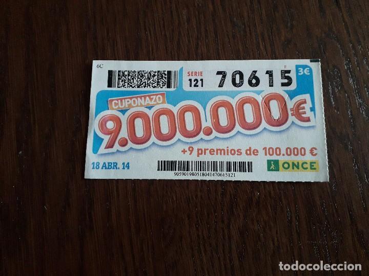 CUPÓN ONCE 18-04-14 CUPONAZO. (Coleccionismo - Lotería - Cupones ONCE)