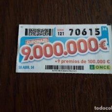 Cupones ONCE - cupón once 18-04-14 cuponazo. - 160636582