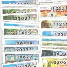 Billets ONCE: 500 DECIMOS DE LOS JUEVES, TODOS CON LA NUMERACION DIFERENTE. Lote 161145302