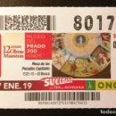 Cupones ONCE: Nº 80176 (27/ENERO/2019). Lote 161337566