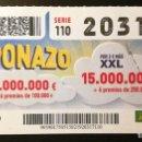 Cupones ONCE: Nº 20317 (15/FEBRERO72019). Lote 161344146