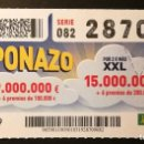 Cupones ONCE: Nº 28709 (1/MARZO/2019). Lote 161344926