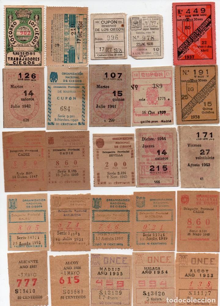 51 CUPÓN,CORRELATIVOS DEL 1933 AL 1983,EN ESTE LOTE NO HAY DESCUENTO (Coleccionismo - Lotería - Cupones ONCE)