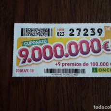 Cupones ONCE - cupón once 23-05-14 cuponazo - 162315854