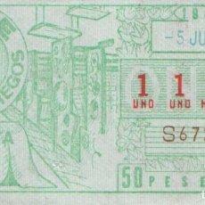 Cupones ONCE: CUPON ONCE 5 JUNIO 1984 IMPRENTA DEL CUPON. Lote 162442986