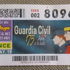 Cupones ONCE - CUPON ONCE 175 ANIVERSARIO DE LA GUARDIA CIVIL. 13 MAYO 2019 - 164761998