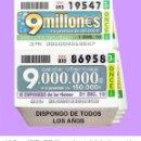 Cupones ONCE: 2010 - AÑO COMPLETO / INCLUIDO LOS SORTEOS ESPECIALES / CUPONES DE LA ONCE / CALIDAD MUY BUENA. Lote 165617198