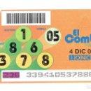 Cupones ONCE: EL COMBO DE LA ONCE, 4 DE DICIEMBRE DEL 2004. Lote 165640738