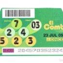 Cupones ONCE: EL COMBO DE LA ONCE, 23 DE JULIO DEL 2005. Lote 165644622