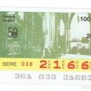 Cupones ONCE: SORTEO DE LA ONCE, 26 DE DICIEMBRE DE 1988. Lote 165653394