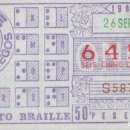 Cupones ONCE: CUPON ONCE 26 SEPTIEMBRE 1984 ALFABETO BRAILLE. Lote 165657926