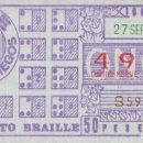 Cupones ONCE: CUPON ONCE 27 SEPTIEMBRE 1984 ALFABETO BRAILLE. Lote 165658270