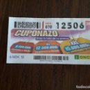 Cupones ONCE: CUPÓN ONCE 06-11-15 EL CUPONAZO.. Lote 165702054