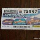 Cupones ONCE: CUPÓN ONCE 30-10-15 EL CUPONAZO.. Lote 165702114