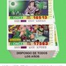 Cupones ONCE: 1999 - AÑO COMPLETO / INCLUIDO LOS SORTEOS ESPECIALES / CUPONES DE LA ONCE / CALIDAD MUY BUENA. Lote 165730862