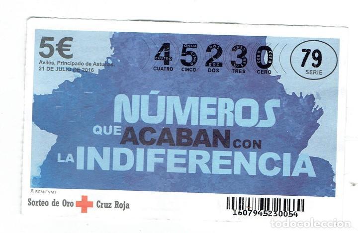 SORTEO DE LA CRUZ ROJA 21 DE JULIO DEL 2016 SERIE 79 (Coleccionismo - Lotería - Cupones ONCE)