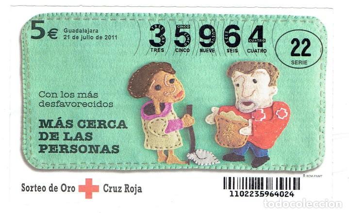 SORTEO DE LA CRUZ ROJA 21 DE JULIO DEL 2011 SERIE 22 (Coleccionismo - Lotería - Cupones ONCE)