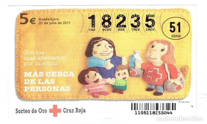 SORTEO DE LA CRUZ ROJA, 21 DE JULIO DEL 2011 SERIE 51 (Coleccionismo - Lotería - Cupones ONCE)