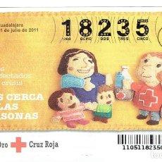 Billets ONCE: SORTEO DE LA CRUZ ROJA, 21 DE JULIO DEL 2011 SERIE 51. Lote 167144268