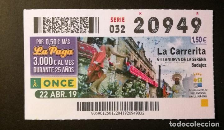 Nº 20949 (22/ABRIL/2019) (Coleccionismo - Lotería - Cupones ONCE)