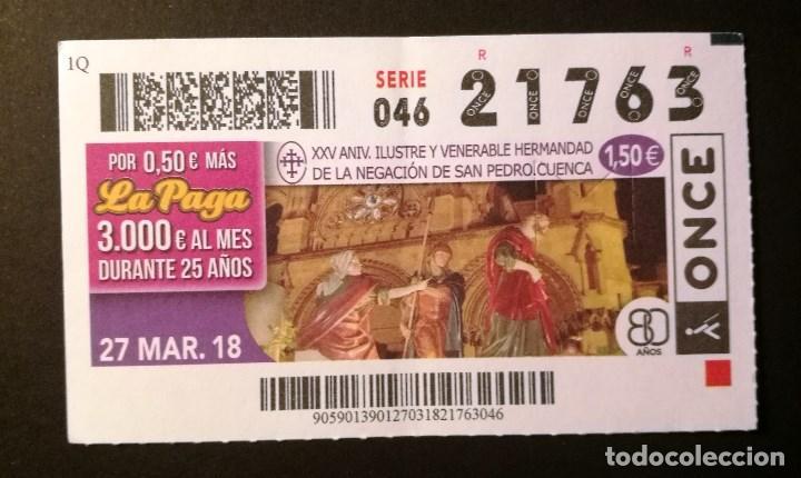 Nº 21763 (27/MARZO/2018) (Coleccionismo - Lotería - Cupones ONCE)