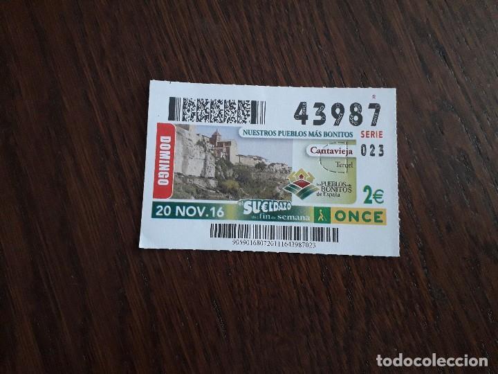 CUPÓN ONCE 20-11-16 NUESTROS PUEBLOS MÁS BONITOS, CANTAVIEJA, TERUEL. (Coleccionismo - Lotería - Cupones ONCE)