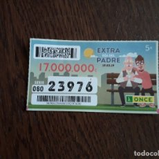Cupones ONCE: CUPÓN ONCE 19-03-19 EXTRA DIA DEL PADRE.. Lote 172861005