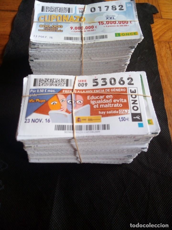 1000 CUPONES DE LA ONCE DISTINTOS - NÚMEROS NEGROS - PARA CORRELATIVA (Coleccionismo - Lotería - Cupones ONCE)