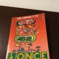 Cupones ONCE: ONCE LIBRITO INFORMATIVO CON PEGATINAS DE CUPONES ORIGINALES 1987. Lote 174536859