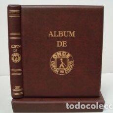 Cupones ONCE: ALBUM BBB* PARA CUPONES ONCE 27X33 CM. 4 ANILLAS. COLOR CUERO VIEJO. STANDARD. INCLUYE CAJETÍN.. Lote 176329175