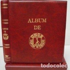 Cupones ONCE: ALBUM BBB* PARA CUPONES ONCE 27X33 CM. 4 ANILLAS. COLOR GRANATE.STANDARD. INCLUYE CAJETÍN.. Lote 176331845
