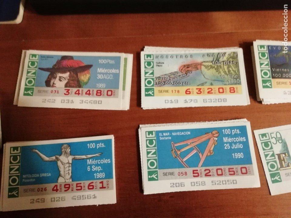 LOTE CUPONES ONCE 1989/90 (Coleccionismo - Lotería - Cupones ONCE)