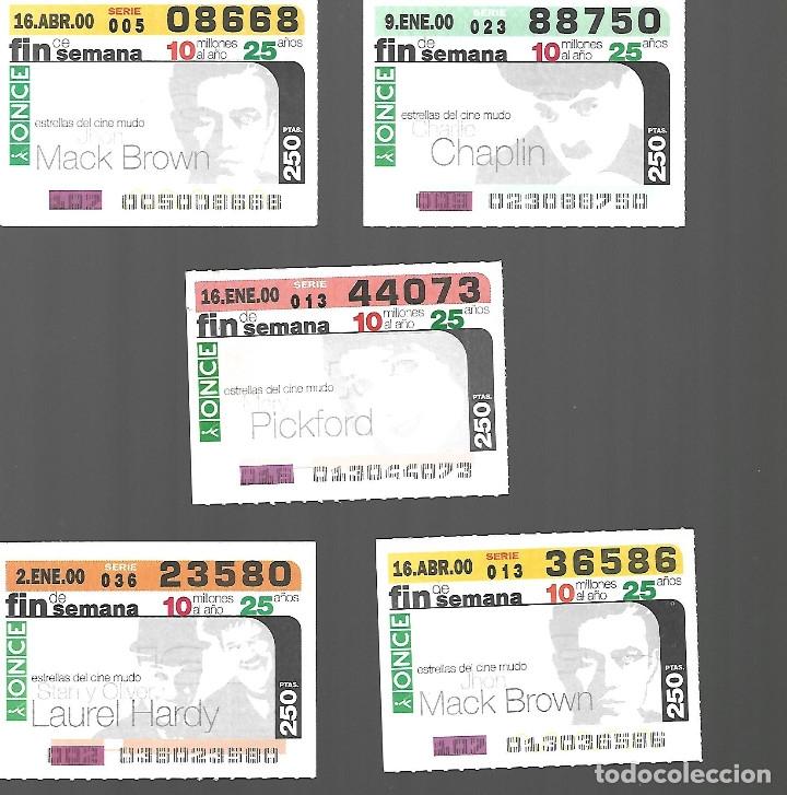 CUPONES FIN DE SEMANA DEL AÑO 2000 - ESTRELLAS DEL CINE MUDO (Coleccionismo - Lotería - Cupones ONCE)