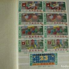 Cupones ONCE: 100 CUPONES DISTINTOS AÑOS 90. Lote 178034995