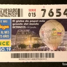 Cupones ONCE: Nº 76541 (14/AGOSTO/2019). Lote 179145140