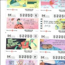 Cupones ONCE: BILLETE ENTERO DE LA CRUZ ROJA 18 DE JULIO DEL 2019. Lote 179158190