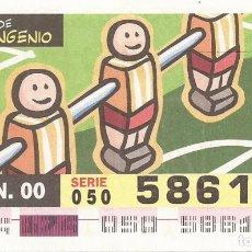Cupones ONCE: CUPON ONCE - 58616 - SORTEO 22 JUNIO 2000 - SERIE 050 - UN SIGLO DE INGENIO. Lote 180222467