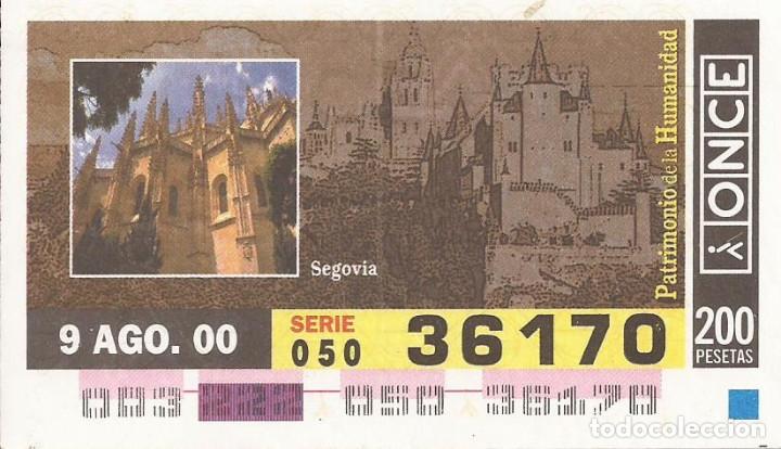 CUPON ONCE - 36170 - SORTEO 09 AGOSTO 2000 - SERIE 050 - PATRIMONIO DE LA HUMANIDAD (Coleccionismo - Lotería - Cupones ONCE)
