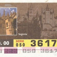 Cupones ONCE: CUPON ONCE - 36170 - SORTEO 09 AGOSTO 2000 - SERIE 050 - PATRIMONIO DE LA HUMANIDAD. Lote 180225220