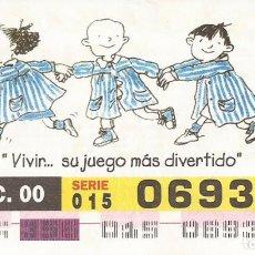 Cupones ONCE: CUPON ONCE - 06938 - SORTEO 21 DICIEMBRE 2000 - SERIE 015 - DIA DEL NIÑO CON CANCER. Lote 180275800