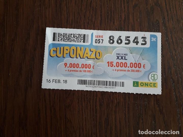 CUPÓN ONCE 16-02-18 CUPONAZO. (Coleccionismo - Lotería - Cupones ONCE)