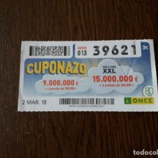 Cupones ONCE: CUPÓN ONCE 02-03-18 CUPONAZO.. Lote 180507580