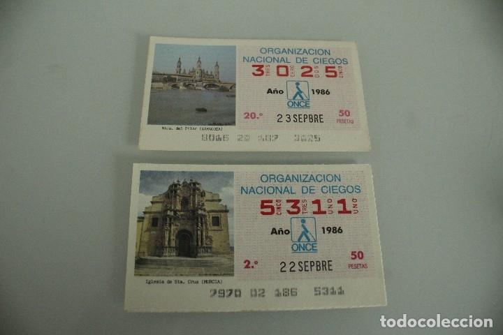 30 CUPONES DE LA ONCE AÑO 86 Y 87 (Coleccionismo - Lotería - Cupones ONCE)