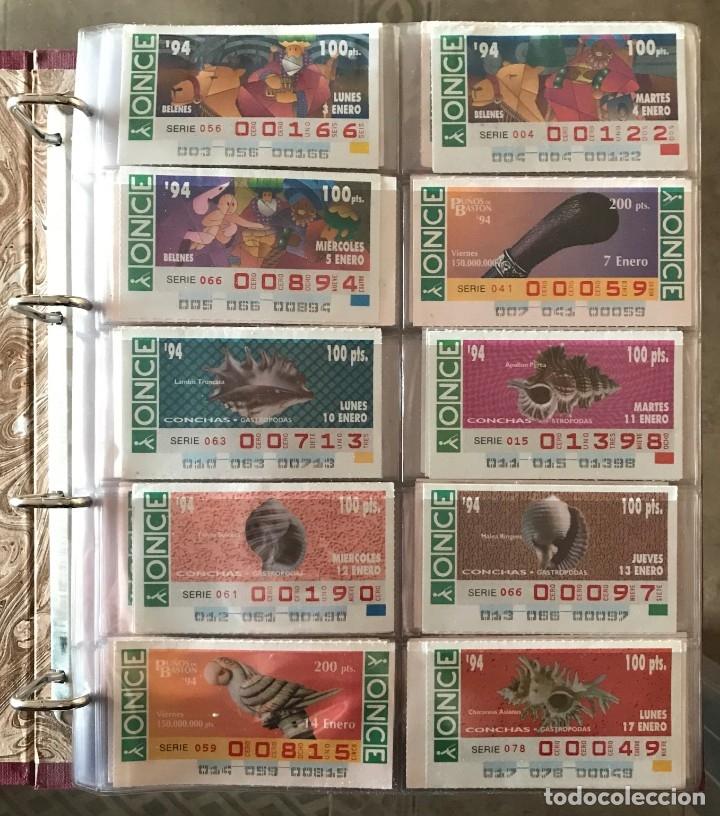 CUPONES DE LA ONCE AÑOS 1994.- 1995.- 1996 Y 1997 TODOS EMPIEZAN POR 1 .-2.- 3 O 4 CEROS VER FOTO (Coleccionismo - Lotería - Cupones ONCE)