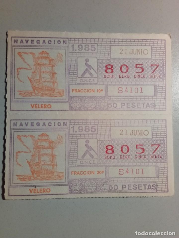 9 CUPONES ONCE 21 DE JUNIO 1985 NÚM 8057 (Coleccionismo - Lotería - Cupones ONCE)