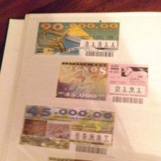 Cupones ONCE: LOTERIA DE BRASIL DE 1989 A 1994, 2 ÁLBUMS CON 380 BILLETES. Lote 182853632