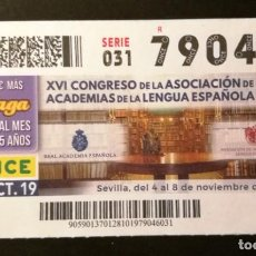 Cupones ONCE: Nº 79046 (28/OCTUBRE/2019). Lote 187588626