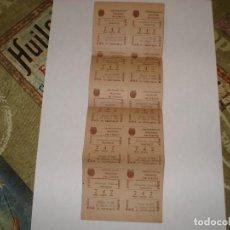 Cupones ONCE: TIRA DE DIEZ CUPONES ONCE 1946 MADRID MUY BUEN ESTADO. Lote 188605163
