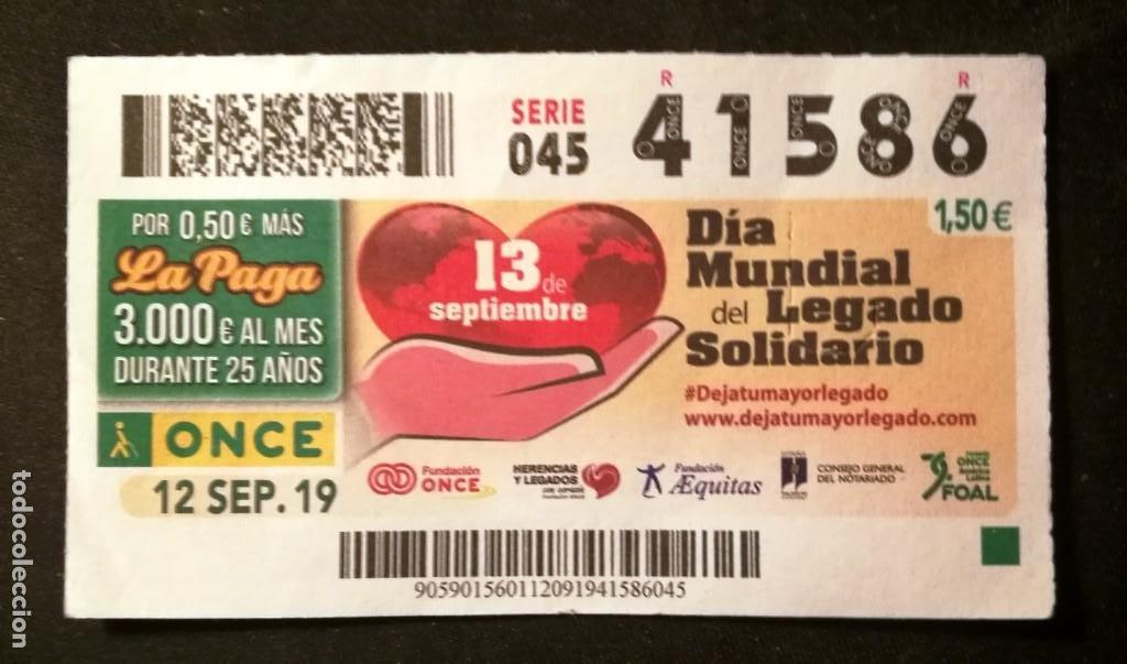 Nº 41586 (12/SEPTIEMBRE/2019) (Coleccionismo - Lotería - Cupones ONCE)