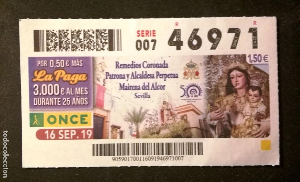 Nº 46971 (16/SEPTIEMBRE/2019) (Coleccionismo - Lotería - Cupones ONCE)